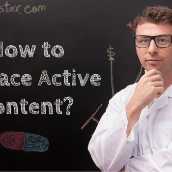 how to replace ebay active content