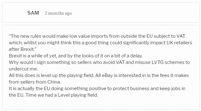 ebay seller feedback regarding vat