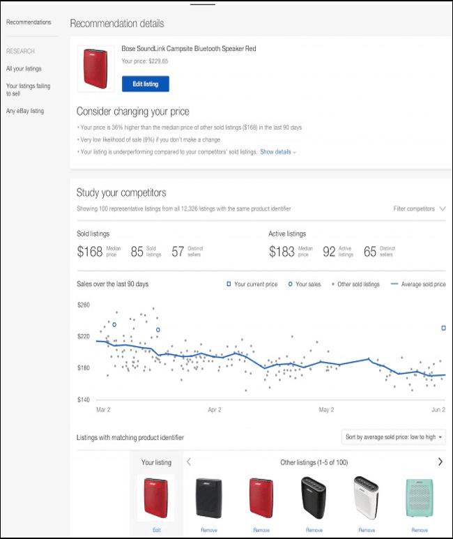 price comparing seller hub