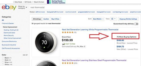 eBay product based shopping experience