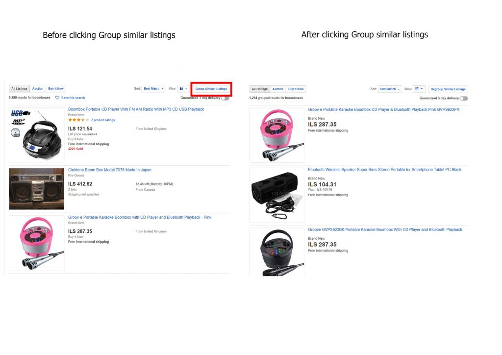ebay group similar listings