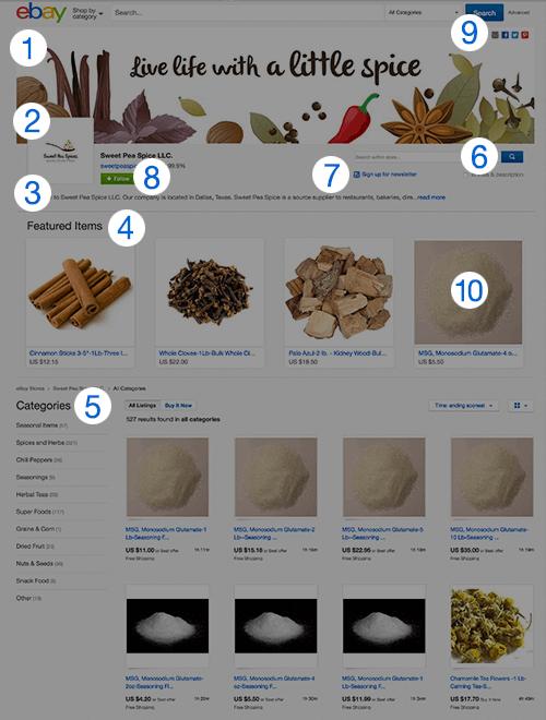 ebay store design tips