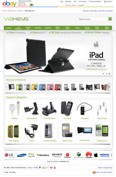 ebay store example design