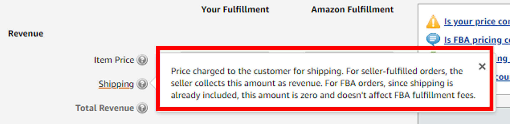 shipping fee in fba