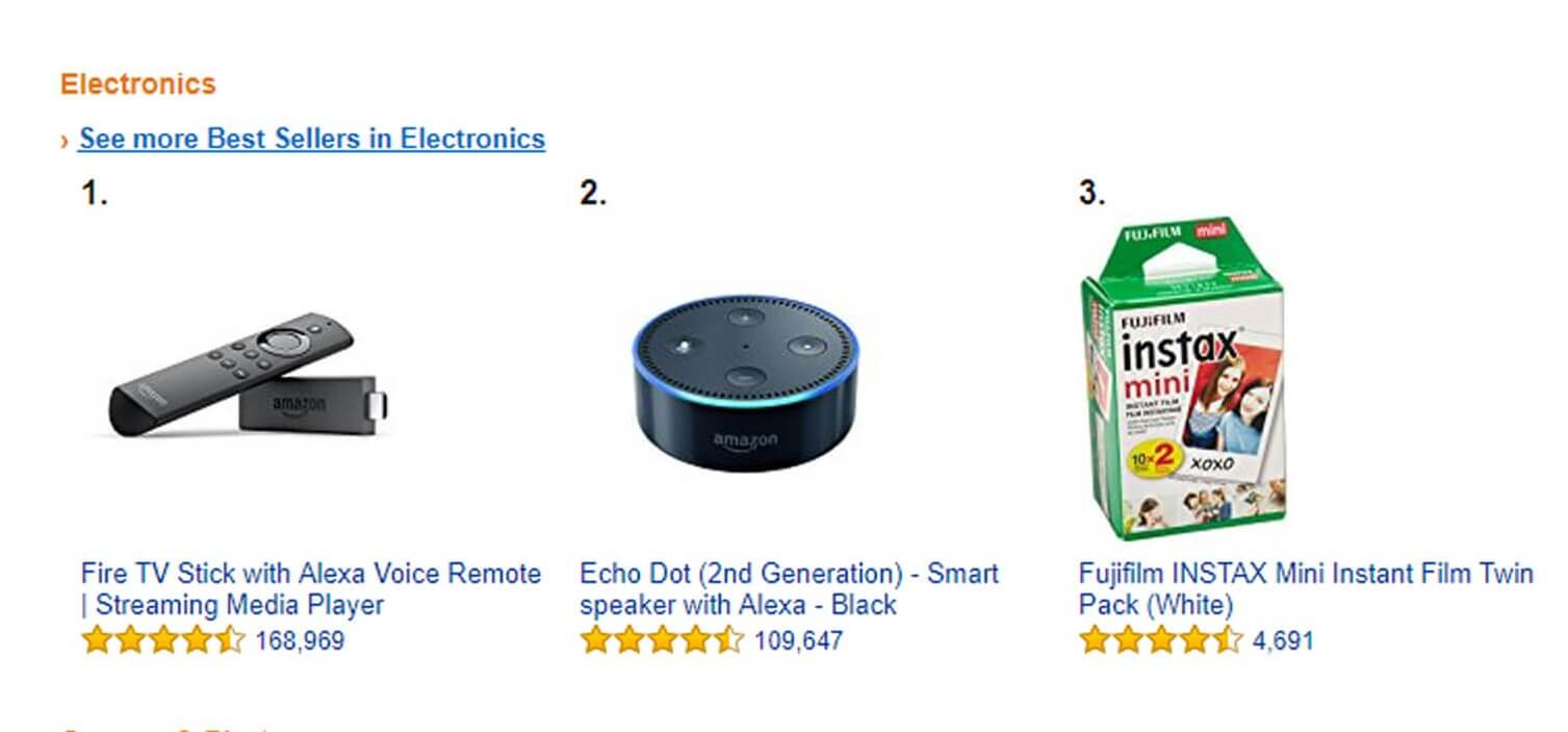 amazon best selling electronics