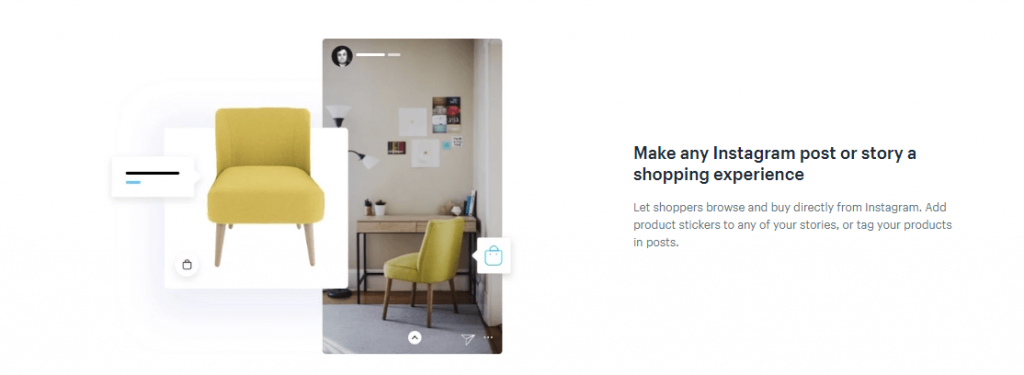 shopify instagram features
